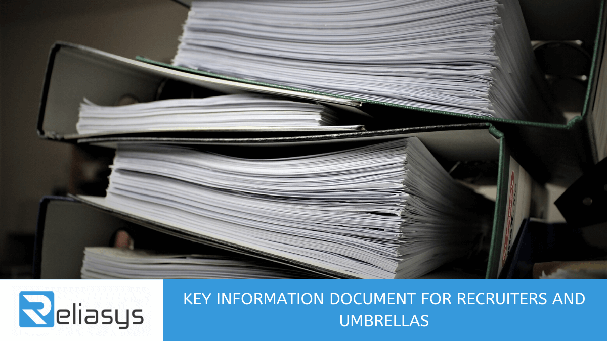 Key Information Document for Recruiters and Umbrellas
